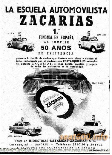cartel de autoescuela