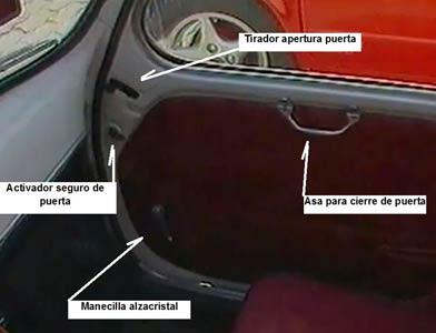 Interior puerta del Seat 600